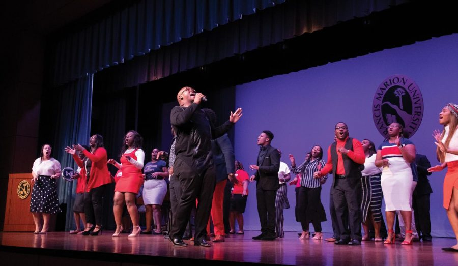 Young, Gifted and Blessed perform at the MLK Day celebration.