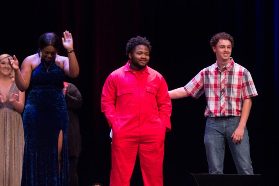 From left to right: Myla Wilson, Malcom Armstrong and Cody Walker on stage at the FMU's Got Talent finale.
