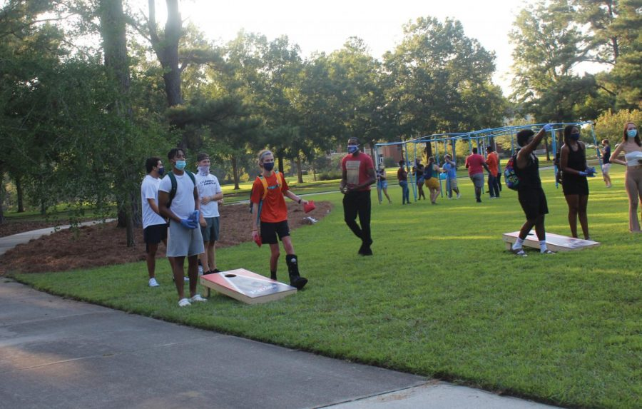 Students were able to safely participate in games together.