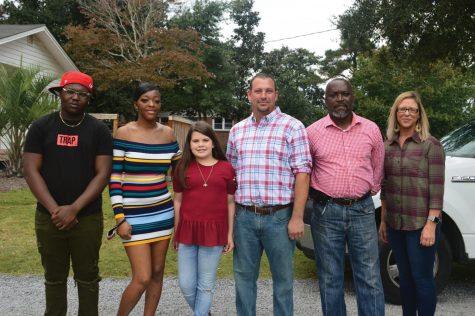 From left to right: Shyheim Platt, Nautril McElveen, Addisyn Porter, Derrick Porter, Robert Fulmore and Bree Porter.