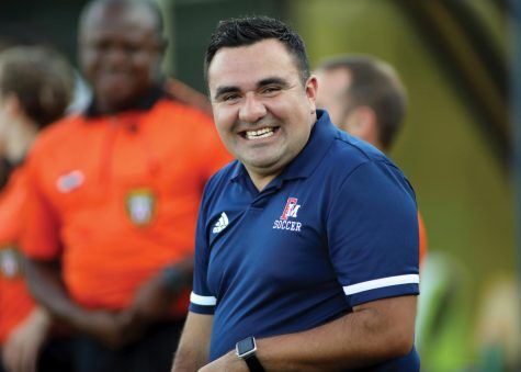 Luis Rincon, head coach of the FMU men's soccer team, led the Patriots to a 16-5-1 season last year.
