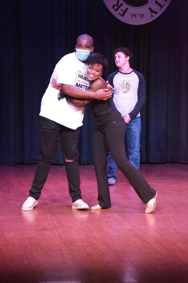 From left to right, Jahylin Baxter, Cody Walker, and FMU's Got Talent winner, Kristen Woodward.
