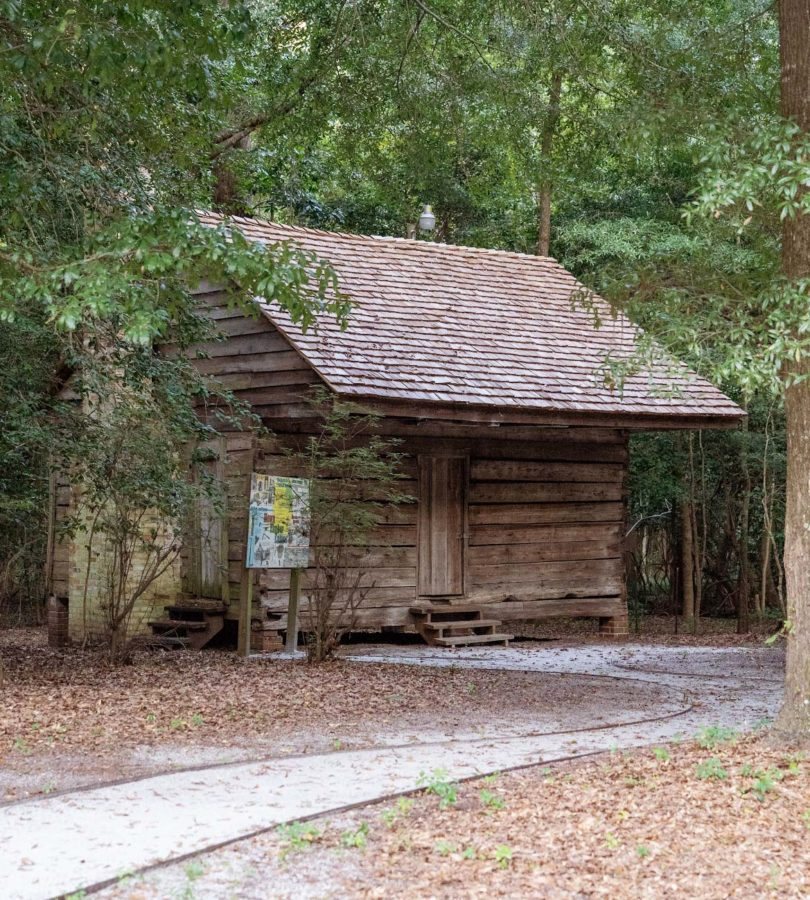 A look at a standing slave cabin on FMUs campus, a new site for research under the new USS initiative.